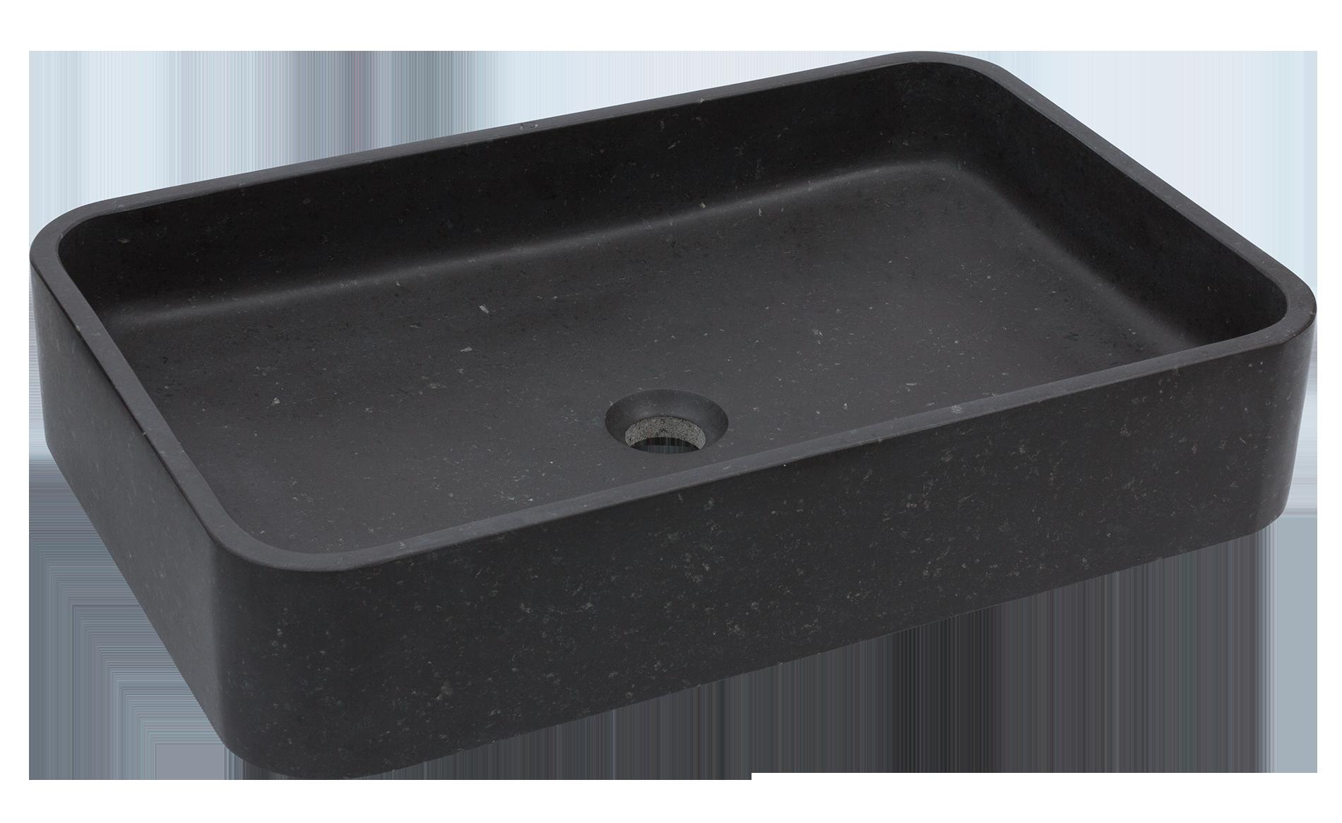 wygodna umywalka z kamienia naturalnego, czarna umywalka z trwałego kamienia