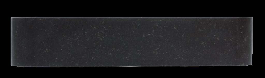 boczna część umywalki, czarna umywalka granitowa, nablatowa umywalka z czarnego kamienia naturalnego