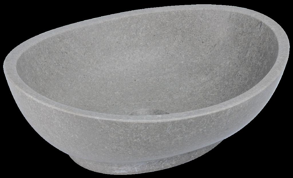 kamienna umywalka nablatowa na cokole, szara umywalka, umywalka z marmuru, minimalistyczna umywalka