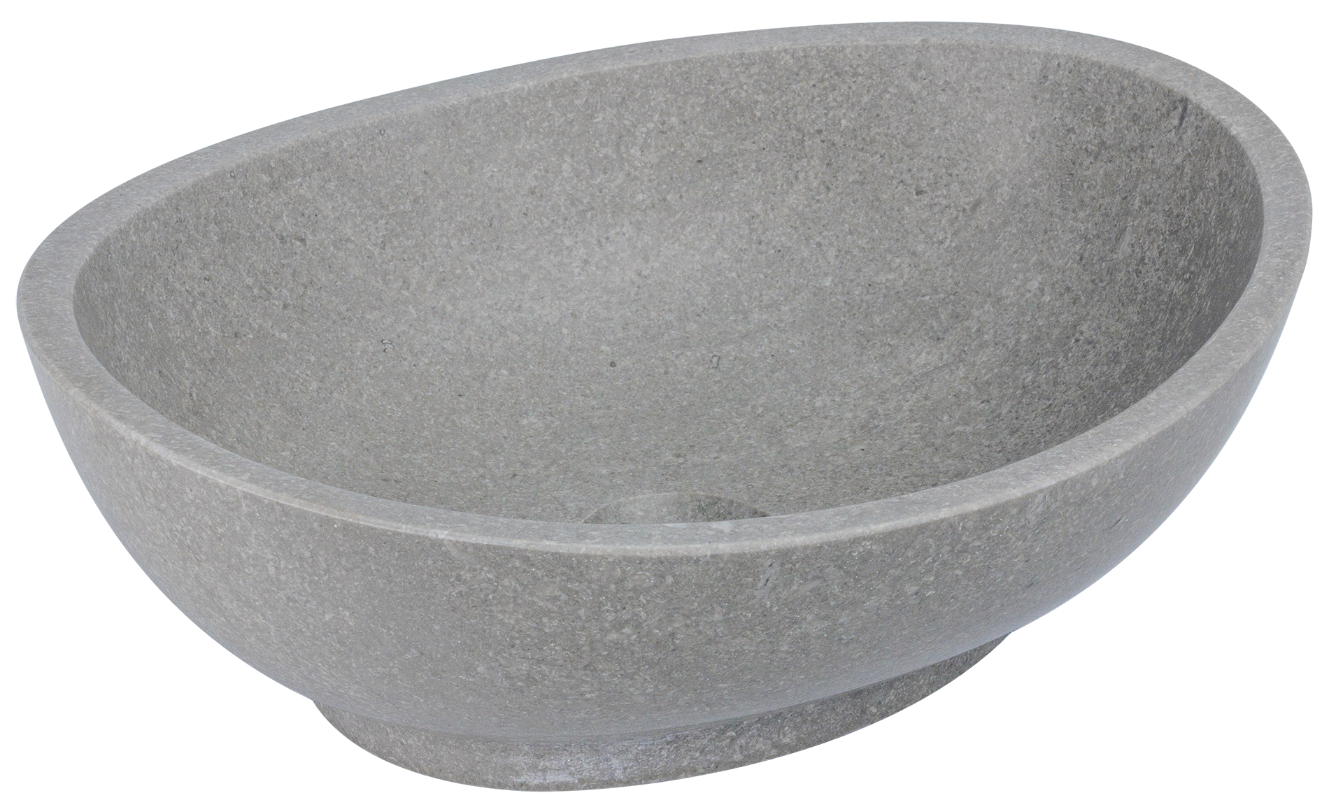 nowoczesna umywalka nablatowa z szarego kamienia naturalnego, marmurowa umywalka ad naturalnie