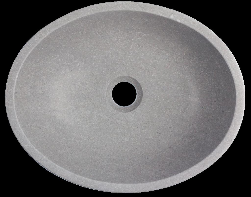 kamienna umywalka z szarego marmuru, umywalka o ergonomicznym kształcie z kamienia naturalnego