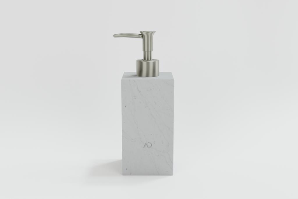 kwadratowy dozownik do mydła, dozownik do mydła z białego marmuru
