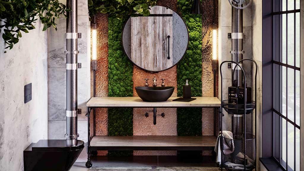 organiczna umywalka z granitu, czarna umywalka do nowoczesnej łazienki